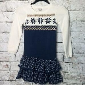 Winter Wonderland Holiday Sweater Dress Girls 7